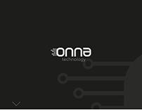 onna teknoloji logo design