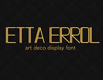 Etta Errol - Art Deco Font