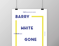 Barry White Gone Wrong concert // A3 poster + FB cover