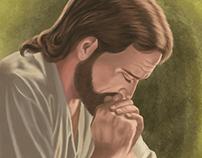 Jesús orando.
