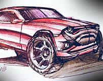 SUV concept sketch