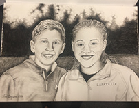 Commissioned Artwork: Charcoal Portrait