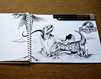 Life Finds a Way Jurassic World Fallen Kingdom Drawing