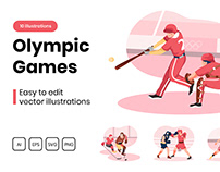 M310_ Olympic Games Illustrations