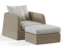 3D Modeling / Janusetcie / Zeya lounge chair