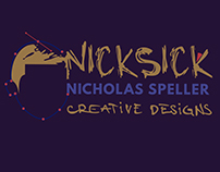 "The identity&Logo Process  ""NickSick Creative Designs"""
