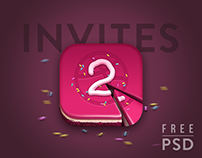 Dribbble Invite Cake - Free PSD icon is included