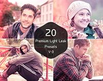 20 Free Light Leak Lightroom Presets Ver. 3