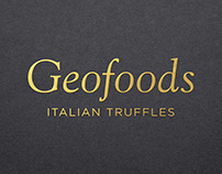 Concept e layout brochure Geofoods Italian Truffles