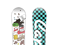 Illustrated Snowboard Design