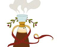 Christmas Coffee Carafe