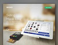 Moka Point of Sale (POS) Website Design