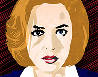 X-Files vector portraits