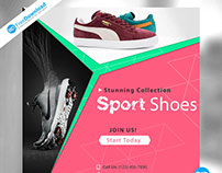 Free Sport Shoes Banner Psd