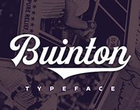 Buinton typeface