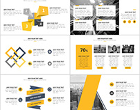 Best yellow annual report PowerPoint templates downloa