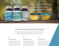 1-Page E-commerce Site for Detox Supplement