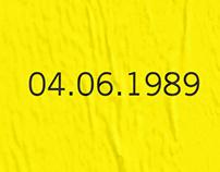 30 Year anniversary of Tiananmen Square