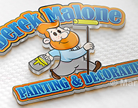 Cartoon Logo for local Painting Decorating company