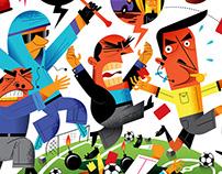 Football referee: profession of risk