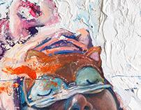 """White Dreams"", oil on canvas"