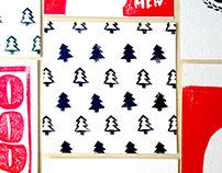Linoprint CHRISTMAS Cards