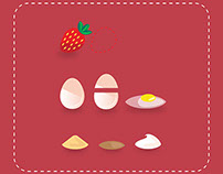 """Strawberry Cake Improper Recipe"""