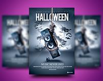 Halloween Music Never Dies Flyer