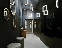 New style classic apartment hallway