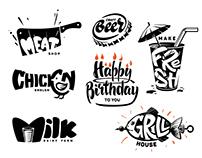 Lettering & FOOD emblem