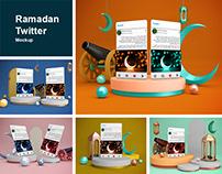 Ramadan Twitter Mockup