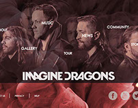 Projeto Redesign do site Imagine Dragons