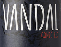 VANDAL wine label design