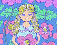 Thumbelina - Hand Drawn and Digital Coloring