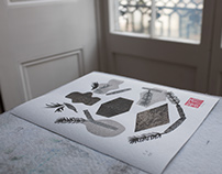 Zen Garden | collection of linocut monotypes