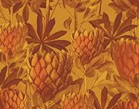 """Textile floral prints for """"Secret Garden"""" clothes brand"""