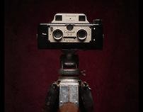 Vintage camera portraits