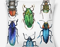 Watercolor bugs
