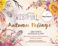Wistful Autumn Foliage digital clipart set