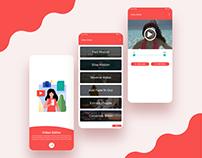 Video Editor App UI/UX Design