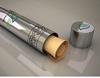 AWQAF CHARITY PAPER HOLDER TUBE- DOHA-QATAR