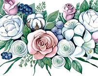 Watercolor Flowers for KK's
