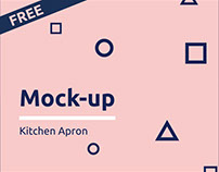 Free Kitchen Apron Mock-up