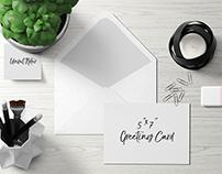 5x7 Greeting Card / Postcard Mockup - Set 2