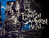True Finnish Samurai Metal - T-shirt design