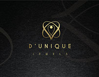 D'Unique Jewels : Logo Branding
