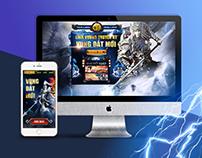 Landing page: Linh Vuong Game