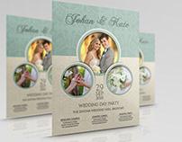 Wedding Party Flyer Template Vol.6