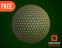 Substance Designer | Stylized Round Roof Tiles