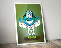 Recycling Cartoon Character